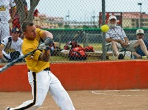 Photo by Tim Hipp Sgt. Kenny Turlington of Camp Humphreys, South Korea, goes 5-for-5 with four home runs to lead All-Army to a 23-8 victory over All-Air Force in the gold-medal game of the 2013 Armed Forces Softball Championships on Sept. 19 at Fort Sill, Okla. This was Turlington's sixth year on the All-Army team.