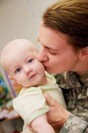 Photo Credit: U.S. Army Public Health Command A military mother and her child.