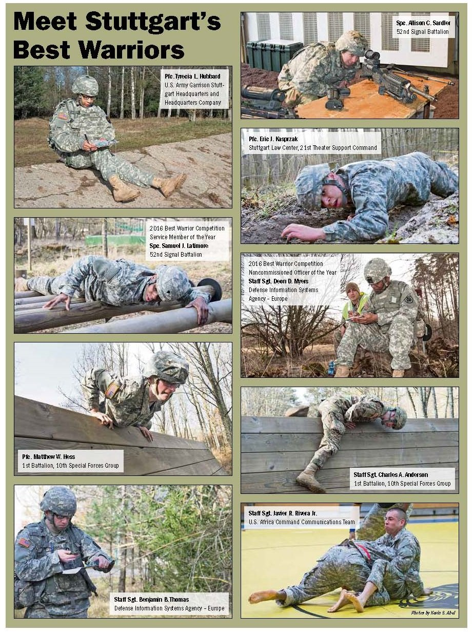 best warrior competition tests stuttgart iers the citizen best warrior competition competitors usag stuttgart feb 2016
