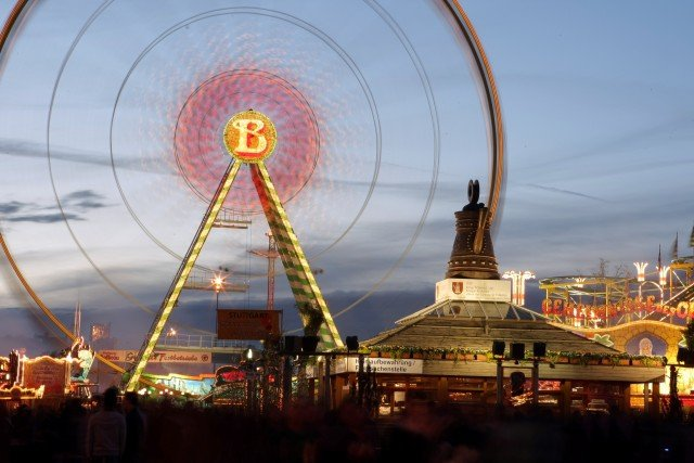 "This year's ""Stuttgarter Frühlingsfest,"" or spring festival, will run April 16 to May 8 at the Cannstatter Wasen fest grounds in Bad Cannstatt. Patrons may enjoy a nice view of the fest grounds from the ""Bellevue"" Ferries Wheel, just one of many activities offered throughout the fest. Also depicted is the ""Cannstatter Kanne,"" or pitcher, the city district's coat of arms. Photo courtesy of in.Stuttgart/Thomas Niedermüller."