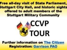Garrison offers free Stuttgart tour, Capital City Visitation Program