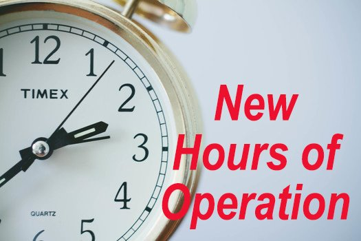 Hours Of Operation Clip Art : New hours of operation clock time stuttgartcitizen