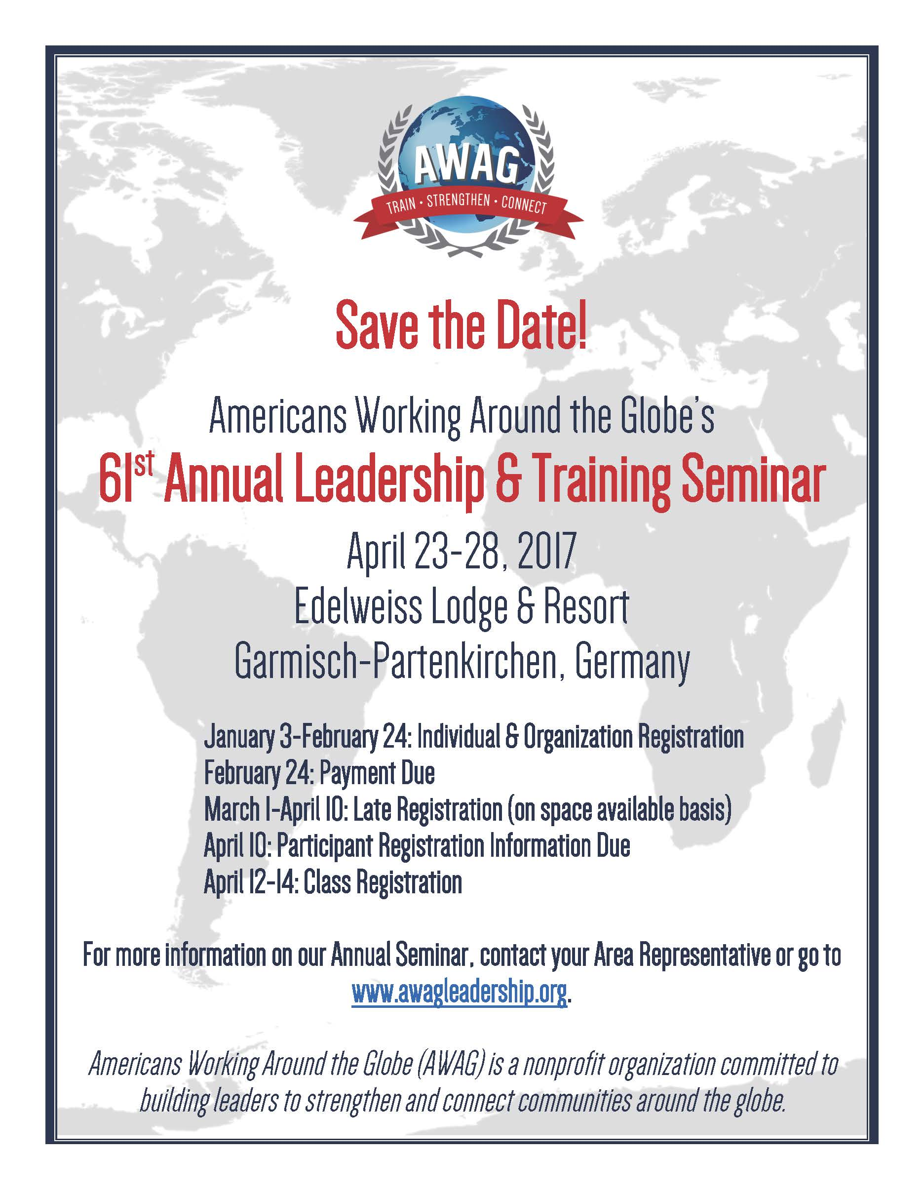AWAG Leadership Training Seminar registration open