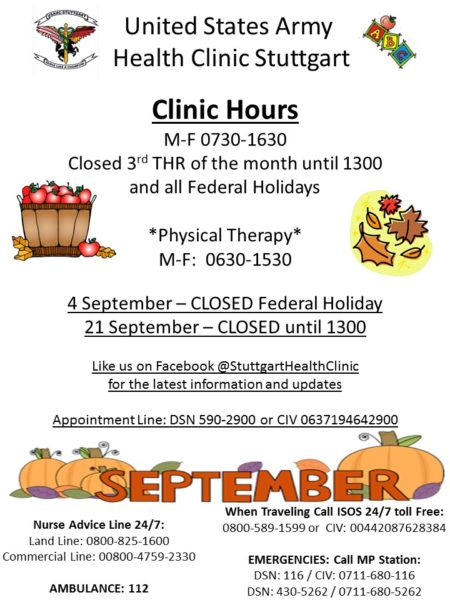 Stuttgart Health Clinic hours