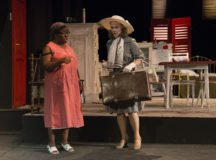 "Blanche Dubois, right, played by Tracy Coffey talks with Eunice Hubbell, played by Johanna ""Jo"" Wiggins, as she searches for the apartment where her sister Stellar lives in the opening scenes of the play."