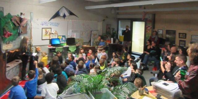 Elementary students host wildlife theme puppet show
