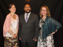 Kristin Cobb (the incoming President for PES PTA), L.A. Martin (incoming PES PTA Treasurer) and Kristin DeLuca celebrate the two awards that the Patch Elementary School's PTA received at the 59th Annual EPTA Convention held this past weekend. (https://www.facebook.com/EuropeanPTA)
