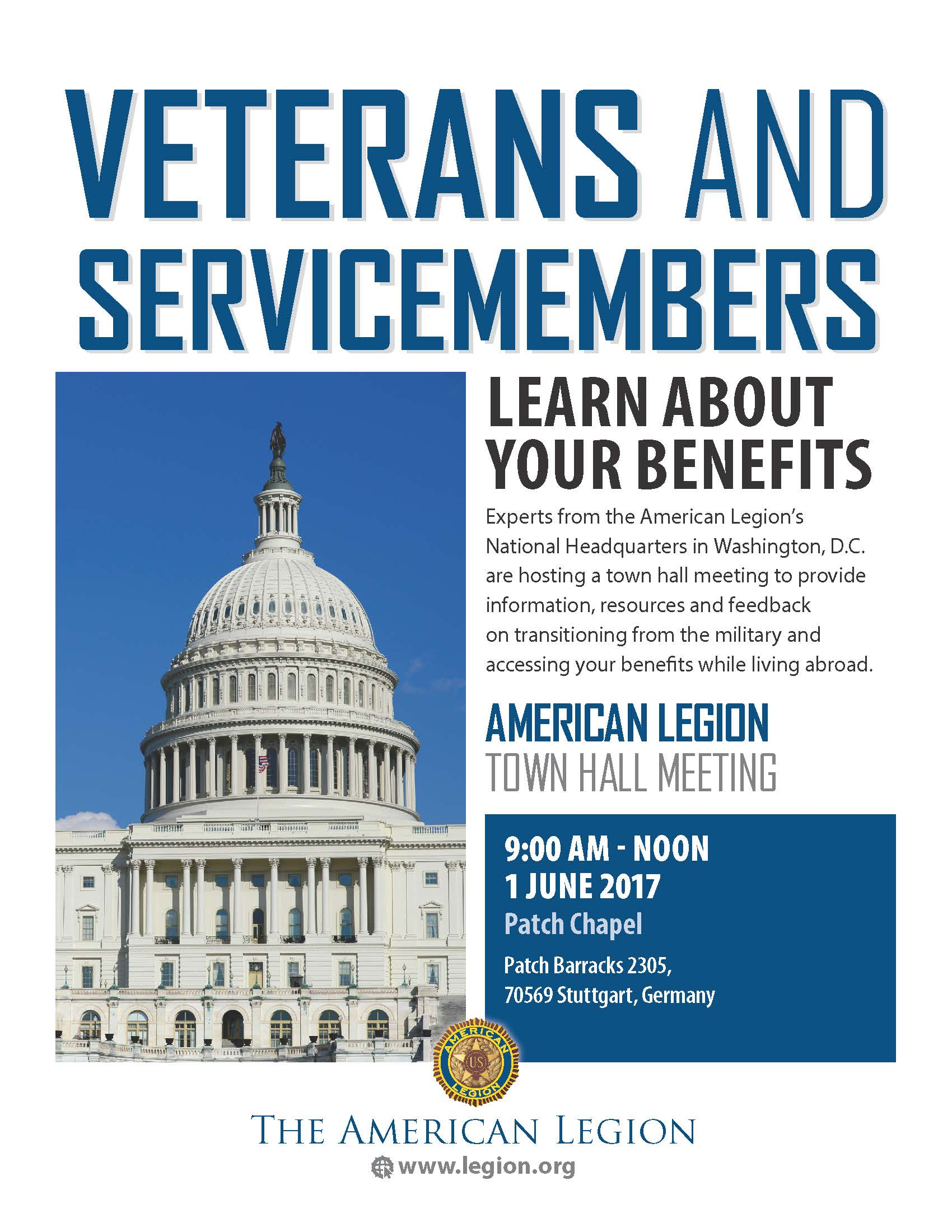 American Legion veterans' benefits awareness Town Hall