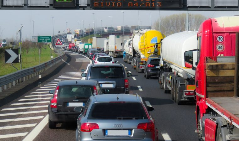 Heavy traffic is a regular occurrence in Stuttgart.