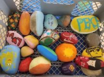 Rocks painted by community members at the garrison's Organization Day, Sept. 1, 2017. Photo courtesy of Stuttgart Family & MWR