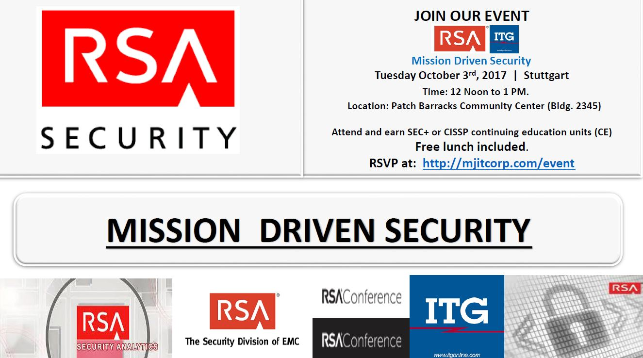 Mission Driven Security continuing education lunch Oct 3