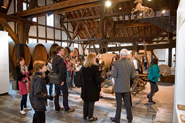 "Photo courtesy of Stuttgart Marketing  Visitors tour the ""Weinbaumuseum,"" or wine-growing museum, in Stuttgart Uhlbach earlier this year. The museum focuses on the history of wine production in Stuttgart. The exhibits are in German and English."