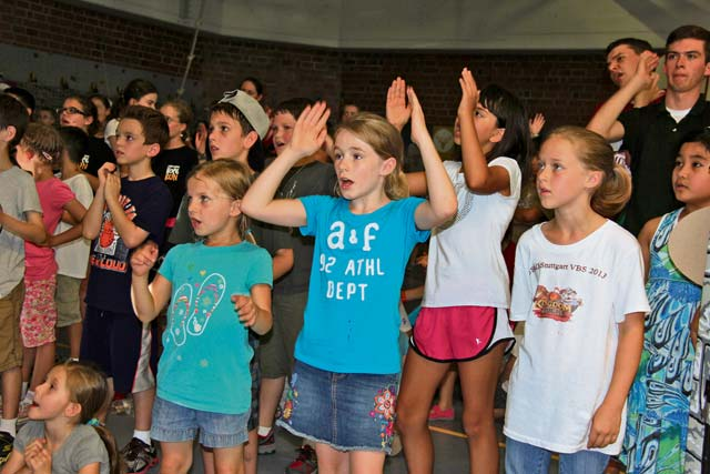 Vacation Bible school teaches children  to 'stand strong'