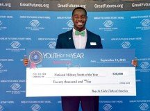 Photo courtesy of Boys & Girls Club of America RaShann Allen, a Fort Knox teen, will receive a $20,000 scholarship as the Boys & Girls Club of America 2013-2014 Military Youth of the Year.