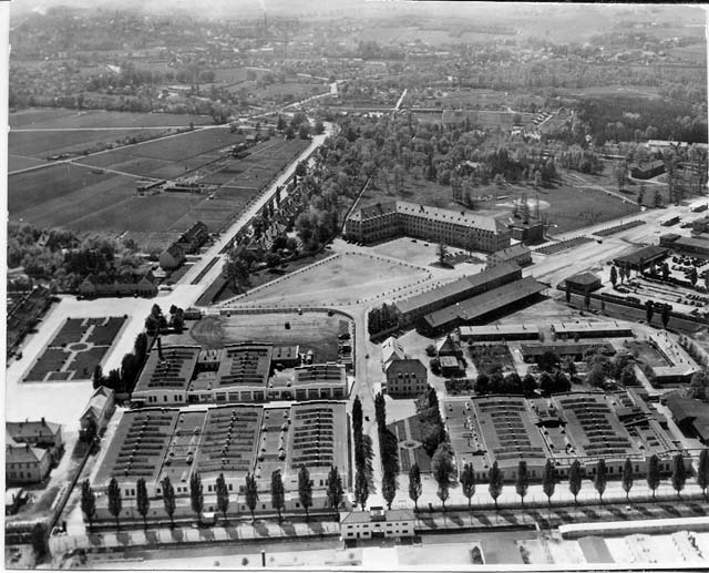© US-Army, KZ-Gedenkstätte Dachau The historic image depicts an aerial view of the former Dachau Concentration Camp around 1950. Originally, Dachau was built for political prisoners and was activated March 22, 1933, less than two months after Adolf Hitler's election as Reich Chancellor on Jan. 30. The Dachau Concentration Camp served as a model for all future camps under the Nazi regime and as a training site for the Schutzstaffel SS, a defense corps under Hitler and the Nazi Party.