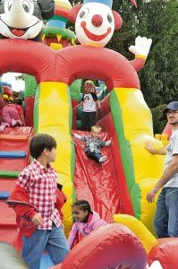 Photo courtesy of USAG Stuttgart FMWRFun for the whole family is the goal at most Family and Morale Welfare and Recreation events. From bouncy castles to sporting goods, Family and MWR tries to appeal to children of all ages.