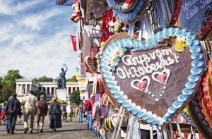"Photo by Thinkstockphotos.comBooths offering traditional German products like this gingerbread heart which reads ""Greetings from Oktoberfest,"" are part of the world's largest festival."