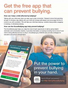 KnowBullying app helps parents, others prevent bullying