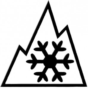 """File graphic European winter tires have two kinds of markings: a snowflake for snow tires (above) or """"M + S"""" for tires designed to work in mud and snow."""