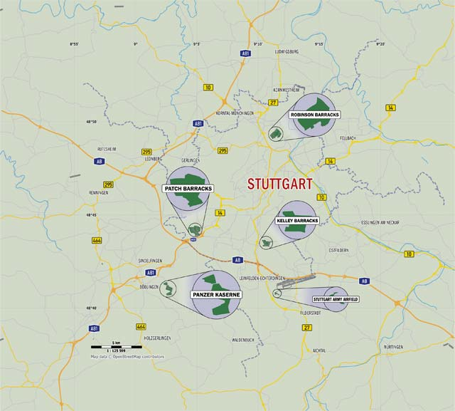 The Stuttgart Military Community Installations Stuttgartcitizencom - Map-of-us-army-bases-in-germany