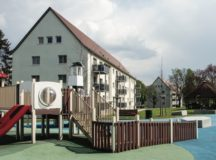 One of the playgrounds found in the housing area on Robinson Barracks. Photo by USAG Stuttgart Public Affairs