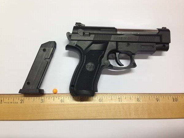 A realistic looking plastic pellet gun was found on a bus in October and created a stir when photos of the gun were posted on social media before the incident was reported to authorities. -- USAG Stuttgart file photo