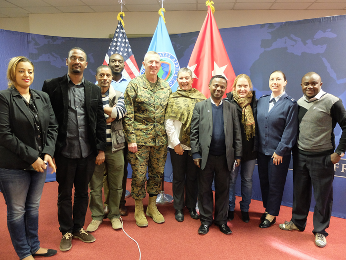 AFRICOM welcomes African Union journalists