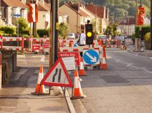Road work impacting Robinson Barracks travel