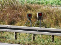 Portable speed cameras on the can pop up anywhere on the roadside. Drivers will see a reddish flash and eventually receive a  ticket in a letter addressed to the driver's supervisor.