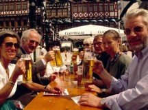 People Drinking Beer In Germany