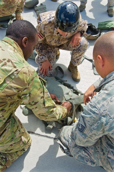 U.S., Latvian military conduct airborne training