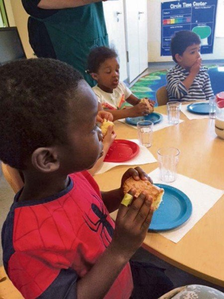 """""""Peer pressure"""" trying new foods with your toddler works well when done as a group."""