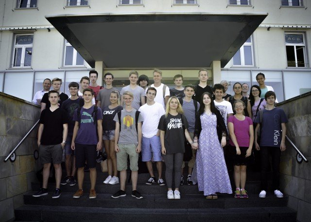 German American student exchange on Panzer Kaserne
