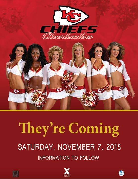 Kansas City Chiefs cheerleaders visit USAG Stuttgart