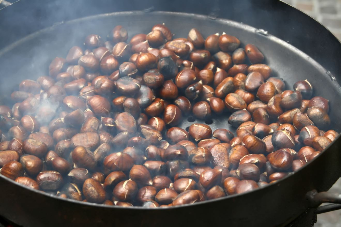 The recipe for roasted chestnuts