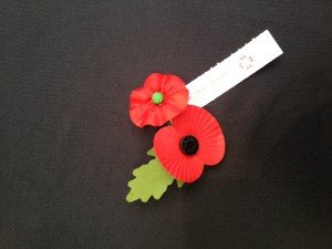 American and British poppies were offered together in the run up to veteran's Day.