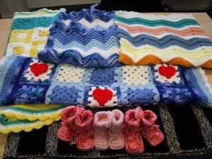 red cross crochet corner photo