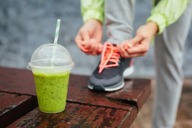 running fitness health month smoothie