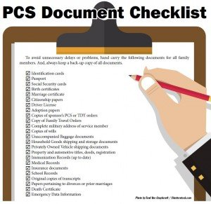 Checklist of things to do before a PCS from Germany