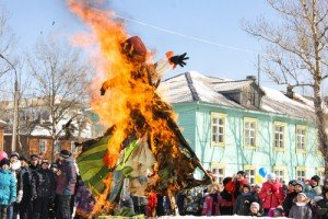 Winter is burned in effigy at a popular German spring celebration. shutterstock photo by Gera Ovchinnikov