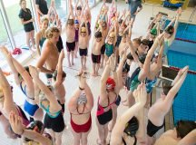 Olympic athletes Aaron Peirsol and Kim Vandenberg visited Sindelfingen on Saturday, May 21, for a swim clinic to help Stuttgart Piranhas with drills that will help improve the foundations of the backstroke and butterfly for the swim team. - Photo by Carolyn Andros