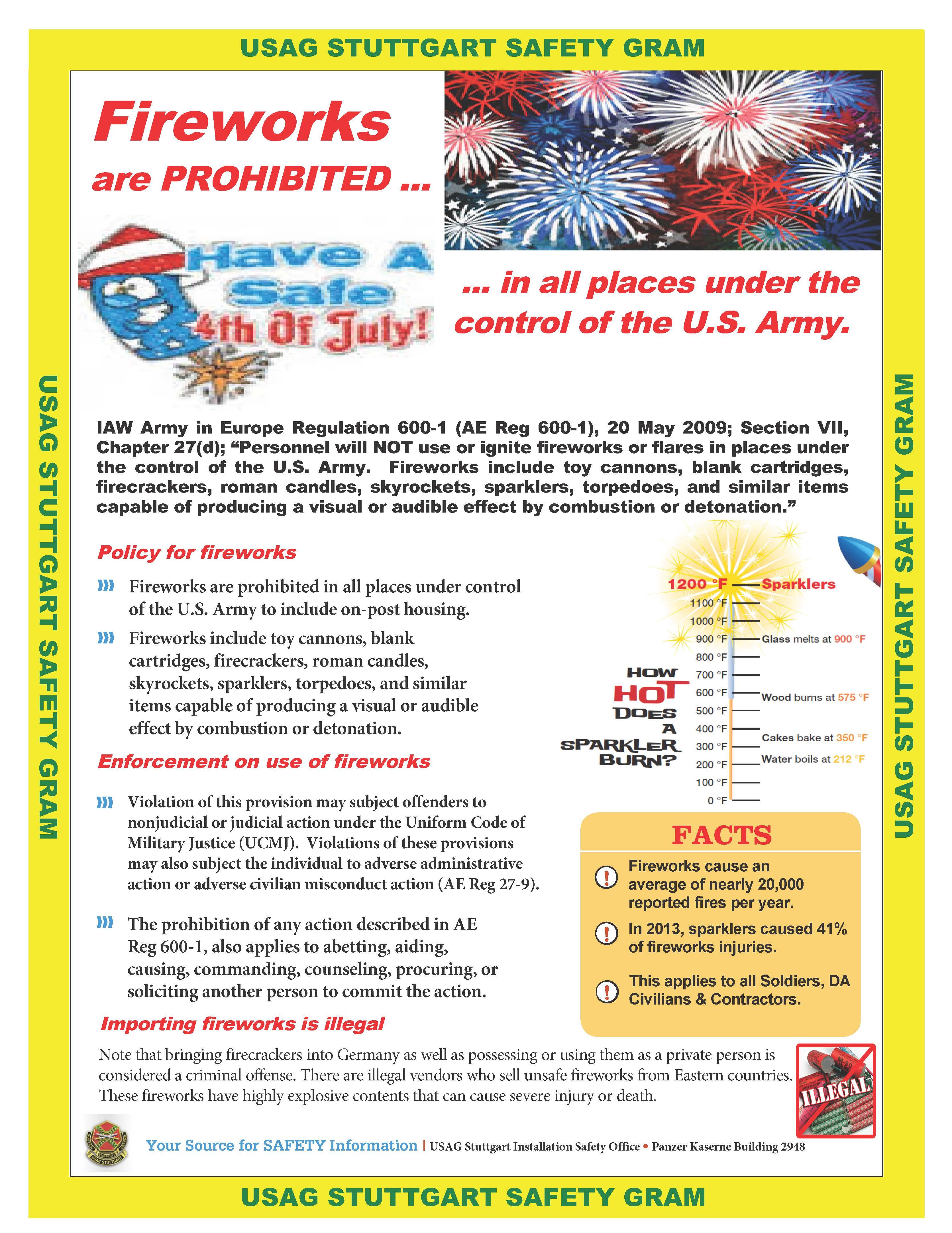 USAG-S Safety Gram Fireworks AE Reg  600-1