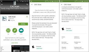 cac scan app screen shot