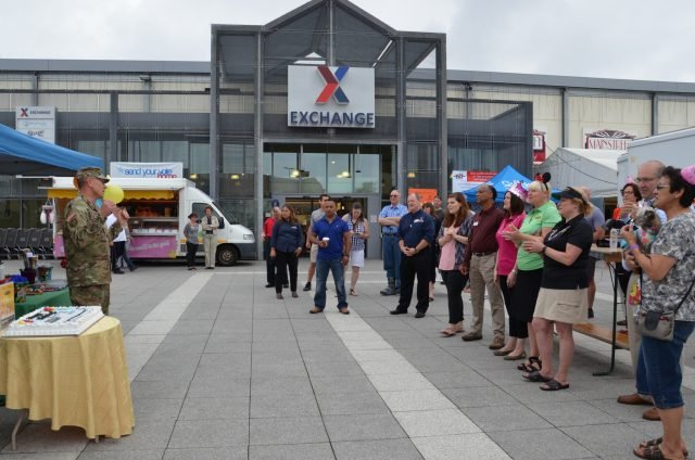 Stuttgart ACS, AAFES celebrate birthdays at the Exchange