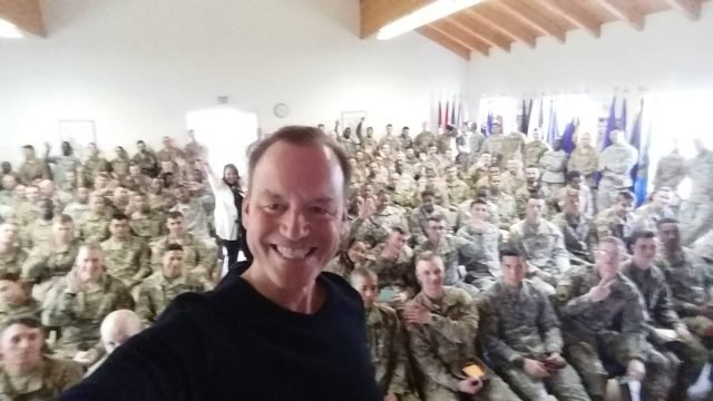 Gregory Q. Cheek snapped a photo after speaking at the 7th Army NCO Academy in Bad Tolz, Germany. Photo courtesy of Gregory Q. Cheek