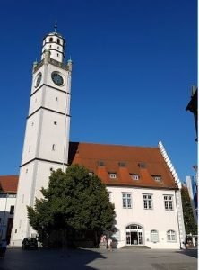 The Blue Tower is one of the most famous sites in Ravensburg. Up until the last twenty years, the tower would ring daily to announce the beginning of the day. And if you would like to climb the tower, you would have to time your arrival accordingly; it is only open a few hours during the day.