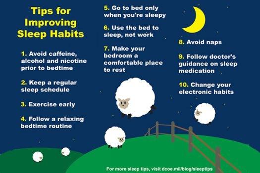 10 tips to help foster healthy sleep habits