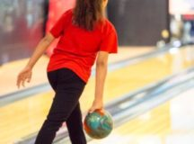 In a close match up, Stuttgart youth bowler Kayla Mitchell makes her move during the USBC Junior Gold Championship.