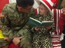 AFRICOM FRG hosts a Read Across America event March 7, 2017 on Kelley Barracks. Photo by Rhea Hefner.