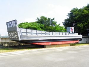 """A """"Mike boat"""" (LCM-6), the same type of landing craft that was being used as a liberty boat on Jan. 17, 1977. The boat, which has a very low profile in the water, came under increased safety regulations after the collision, affecting similar boats Navy-wide. Photo from Wikipedia."""